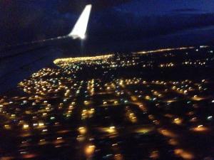 La Paz view from flight