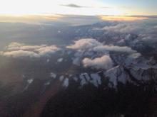 La Paz, Andes view from flight