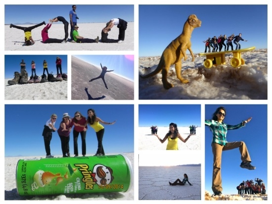 Collage Salt Flats Bolivia