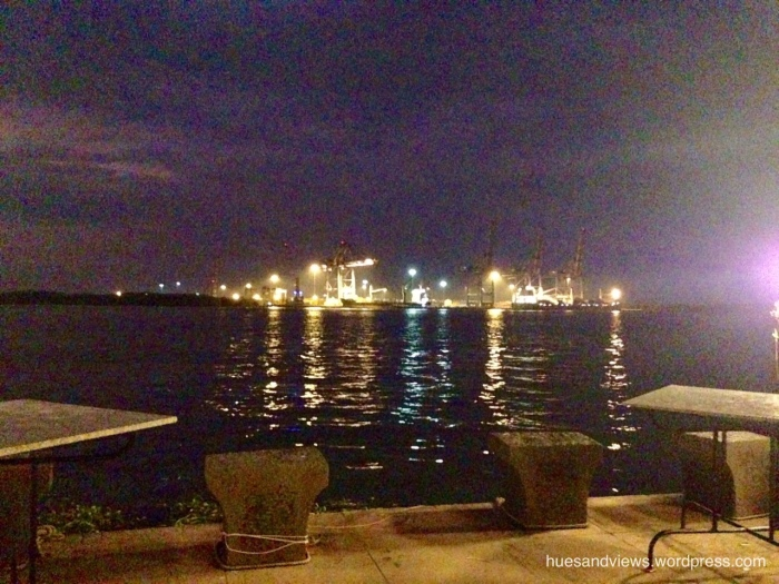Kochi port at night