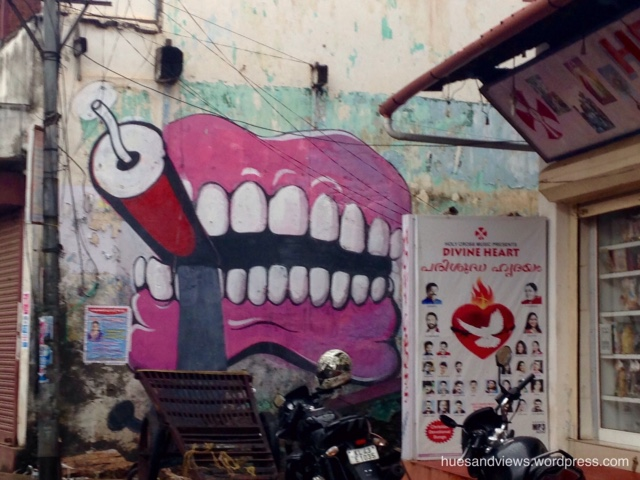 Street art in Jew Town, Kochi