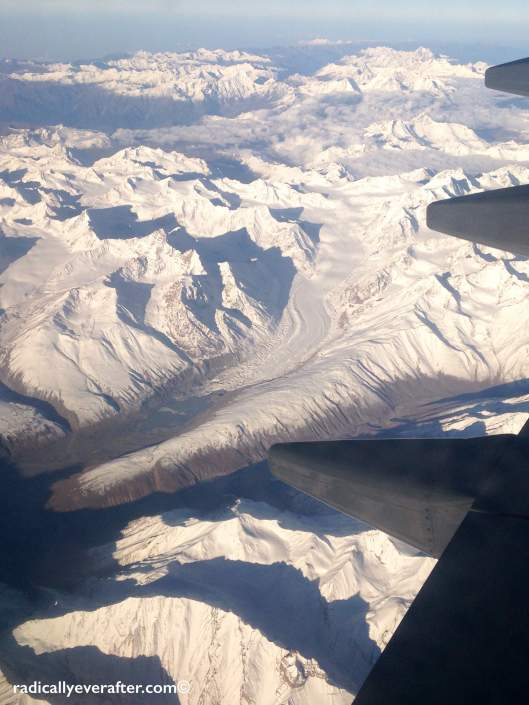 Ladakh Leh Flight Window View