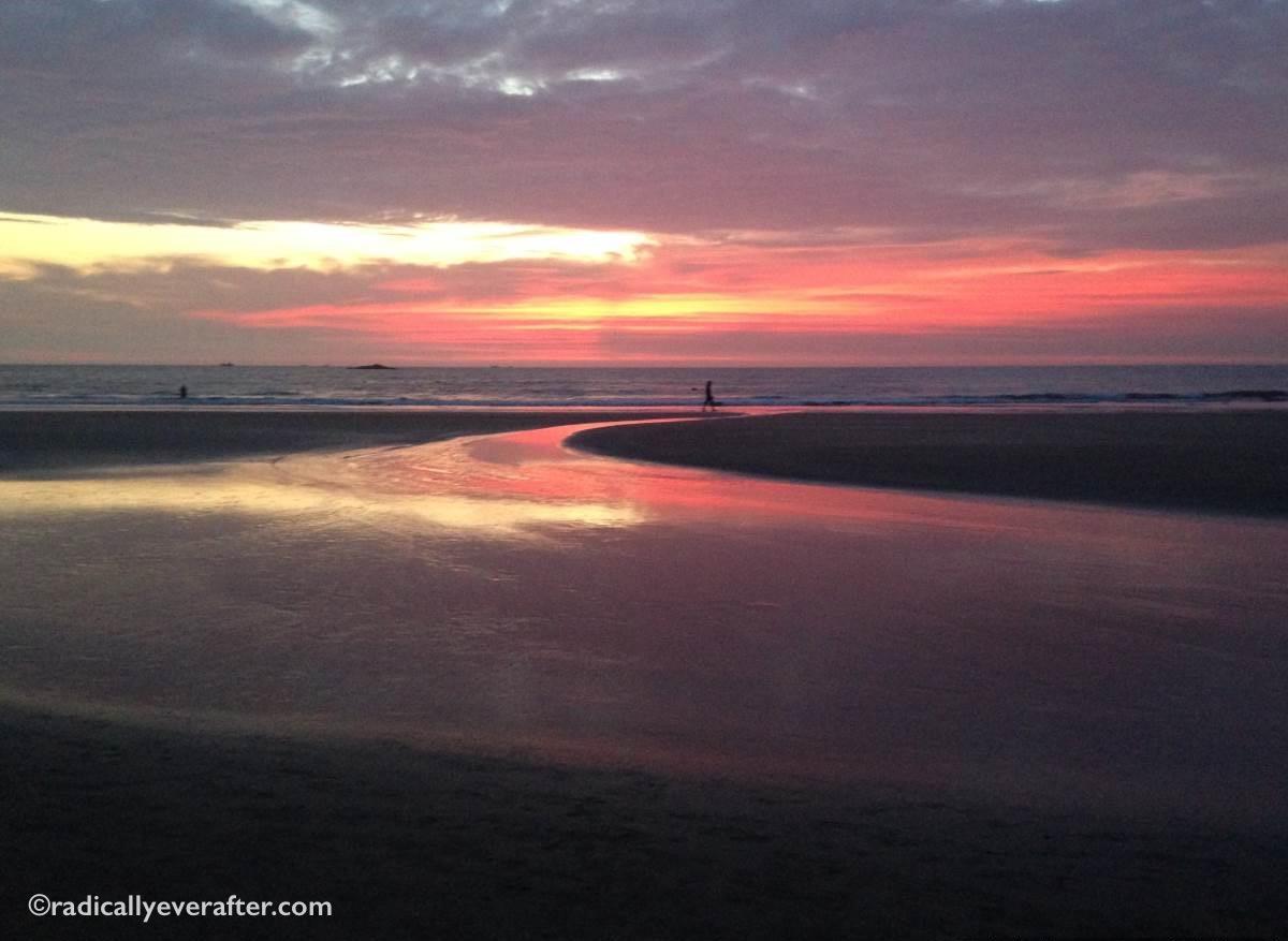 Gokarna, Karnataka, Kudle beach sunset