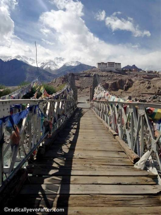 Leh Ladakh India Monastery Bridge