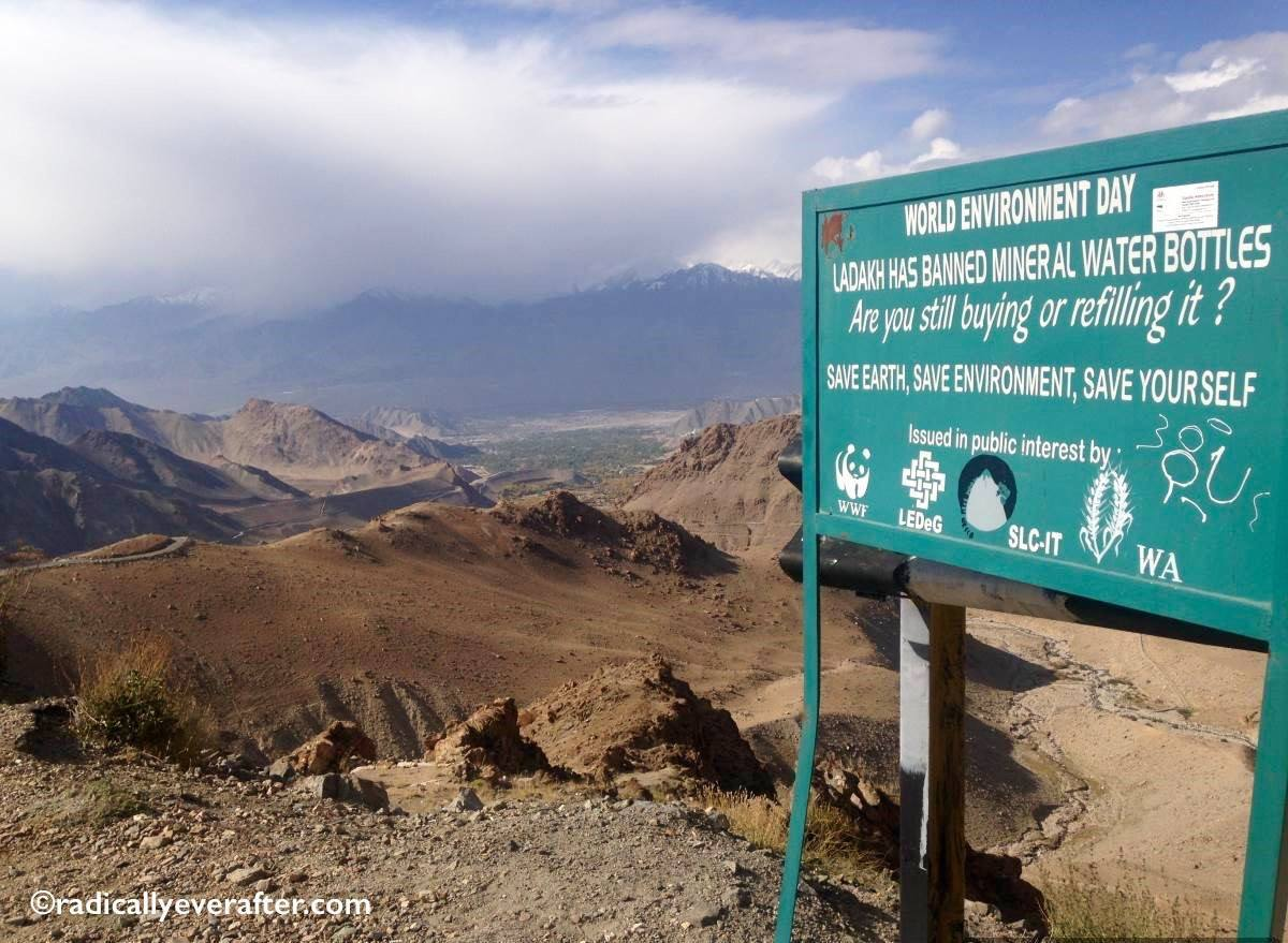 Leh, Ladakh, India, Plastic bottles, responsible travel
