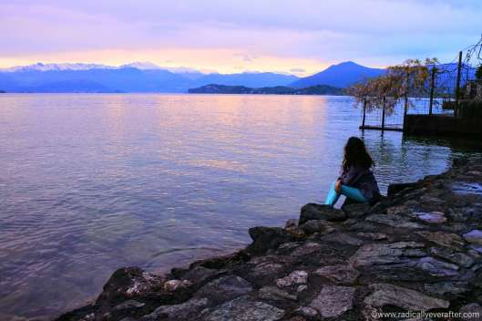 Lake Maggiore, bordering the Swiss Alps