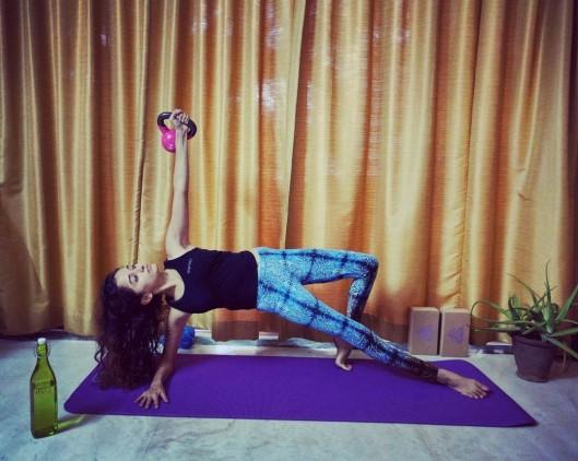 Yoga meets kettlebell